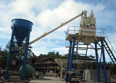 Small Concrete Batch Plant , 25m3/H Stationary Weigh Batching Concrete Mixing Plant