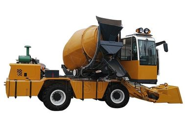 Self Loading Mobile Concrete Mixer Truck High Efficiency For Urban Construction