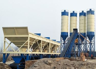 China Commercial Fixed Ready Mix Concrete Plant , 90m3 Belt Type Concrete Batching Plant supplier