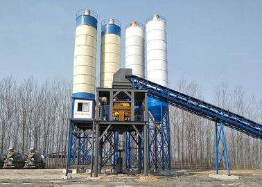 China HZS60 Soil Cement Mixing Plant 60m3 Belt Type Concrete Batching Plant Equipment supplier