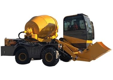 Front Discharge Mobile Self Loading Concrete Mixer Hydraulic System Heavy Duty