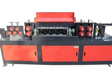 Cast Steel Clip Rebar Straightening Machine 7.5kw Motor Power Cr12 Straightening Wheel