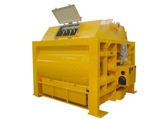1.1kw Twin Shaft Concrete Mixer Machine 1000L Discharging Capacity With High Performance