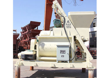 Large Capacity 1m3 Concrete Mixer Machine Double Shaft With Lifter 8700kg Total Weight