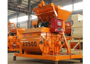 500L Double Shaft Horizontal Cement Mixer 25m3/H Capacity With Electric Engine