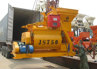 Heavy Duty Concrete Cement Mixer Horizontal Twin Shaft For Block Making Machine