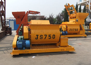 Double Shaft Ready Mix Concrete Mixer Machine Low Noise For Construction