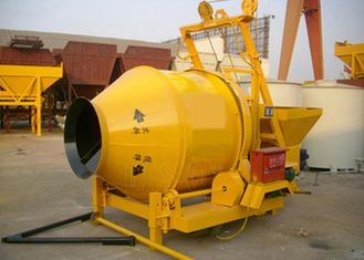 Industrial Portable Concrete Mixer With Pump 14r / Min Drum Rotating Speed