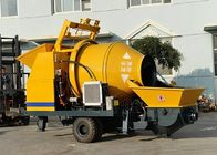 China JBT30 Portable Concrete Mixer And Pump Trailer Mounted Type With Electric Motor company