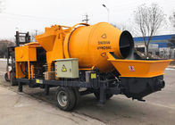 China Mobile Self Loading Concrete Mixer With Pump Diesel Engine Type CE ISO Approved company