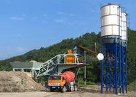 China Mobile Ready Mix Portable Concrete Mixer Batching Plants Fully Automatic Control company