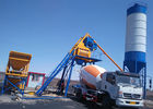 Fixed Ready Mixed Concrete Batch Plant Twin Shaft Mixer High Weighing Precision